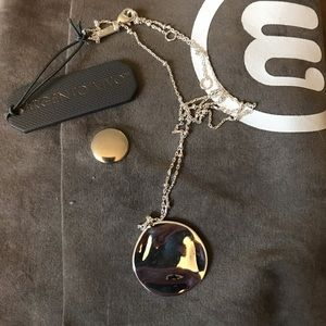NWT Argento Vivo hammered circle necklace